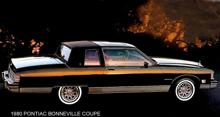 80 PONTIAC BONNEVILLE COUPE BLACK LARGE