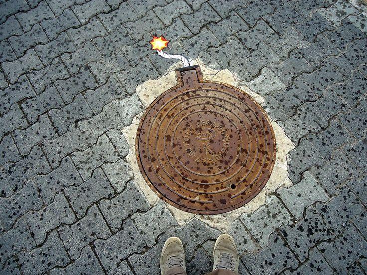 Стрит-арт в Перми, идеально вписанный в окружающую среду 🙂