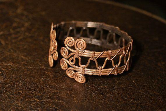 Wire Wrapped Braceletcopper bracelet wire wrapped by BeyhanAkman