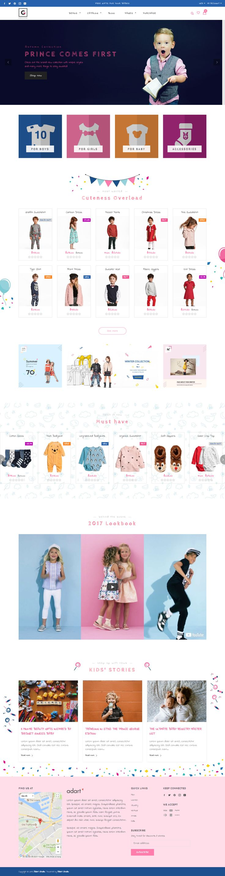 Best Ecommerce Website Design for Kids Store - Gemini Shopify theme #shopify #ecommerce #theme #template #webdesign #shopifystore #shopifythemes #ecommercewebsite #ecommercetheme #kids #kidstore #children #fashionstore #fashionstoredesign #onlineshop