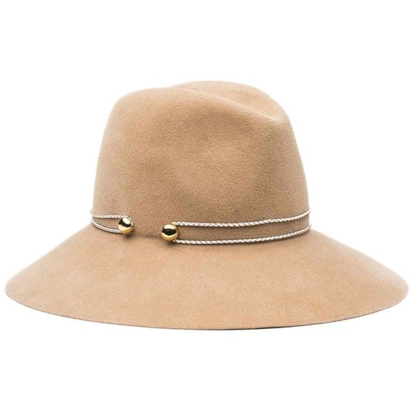 Eugenia Kim Women's Farrah Floppy Hat - Camel, Size m (3.639.030 IDR) ❤ liked on Polyvore featuring accessories, hats, camel, crown hat, metallic hat, band hats, floppy hats and camel hats