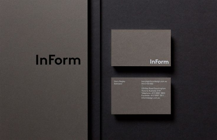 Logo and business cards for architectural design and building firm InForm by Hofstede