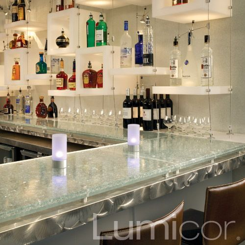 Retail cafeterias are perfect placement for Lumicor resin table and ...
