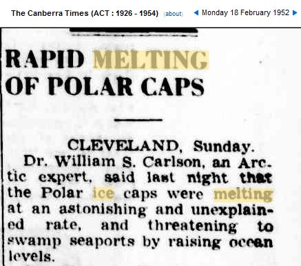 polar ice caps melting greenland | 1952 : Ice Caps Melting At An Astonishing Rate | Real Science