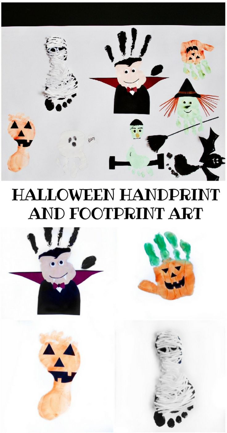 halloween handprint and footprint art 9526 best craft images on crafts 6671