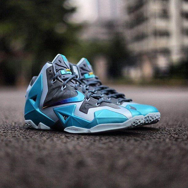 Authentic Armory Slate/Gamma Bleu-Light Armory Bleu Nike Lebron 11 For Sale