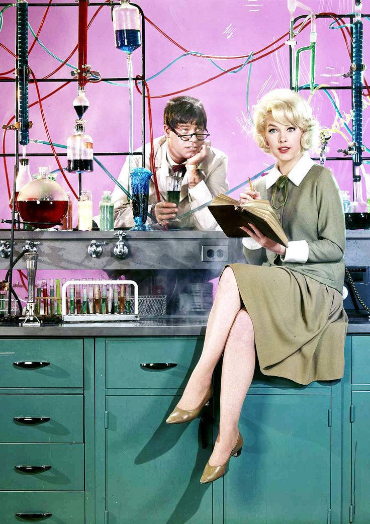 """hollywoodlady: """" Jerry Lewis and Stella Stevens for The Nutty Professor, 1963 """""""