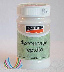 Farby-laky - PENTART Lepidlo s lakom na textil, 100 ml - 5904573_