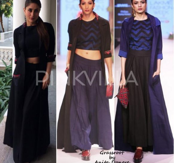 Kareena Kapoor - navy and black combo!!