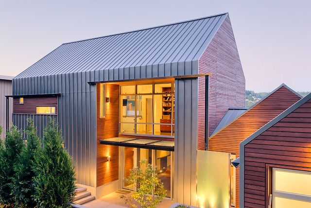 Modern pitched roof design                                                                                                                                                                                 More