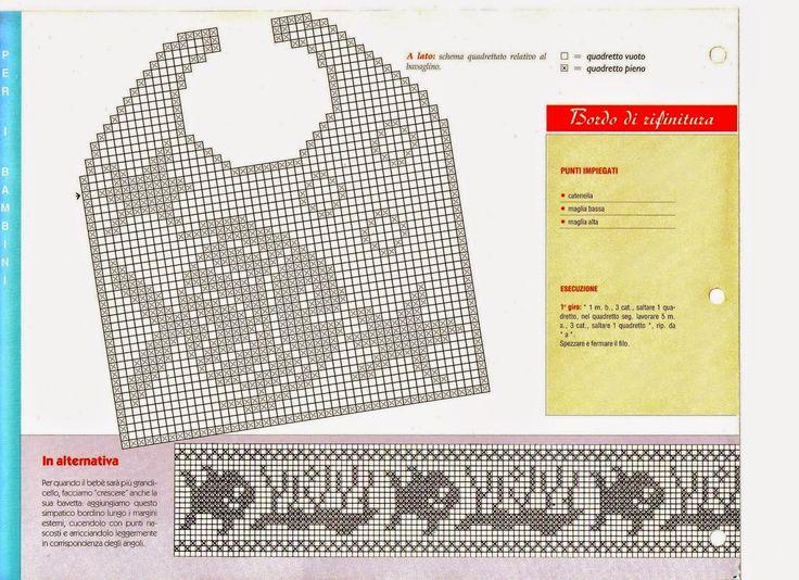 Oltre 25 fantastiche idee su abiti da bambino all for Schemi uncinetto bavaglini free