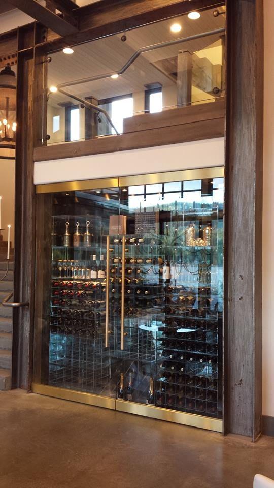Custom Refrigerated Wine Wall Wine Storage Pinterest