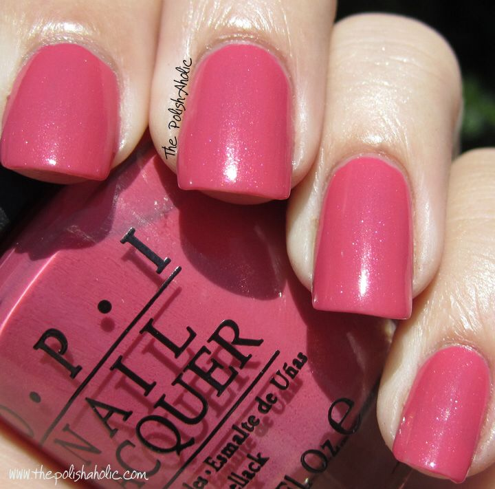 OPI My Address is Hollywood- rose-pink with a subtle shimmer