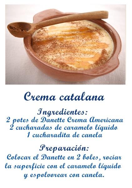 Crema catalana recetas danette pinterest