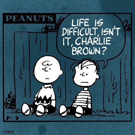 "This is my sons favourite saying, ""Life's too hard for me Mum."" So here are the words said by Charlie Brown for everyone on the Spectrum. ASD, Autism, Aspergers"
