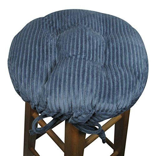 Corduroy Wide Wale Blue Bar Stool Cover with Cushion and Adjustable Yoke  sc 1 st  Pinterest & Best 25+ Bar stool covers ideas on Pinterest | Stool covers Stool ... islam-shia.org