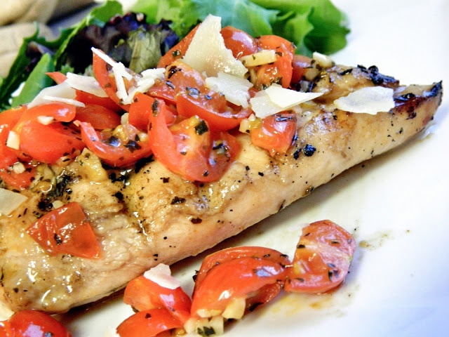 Bruschetta Grilled Chicken | Grillin Out or @Home | Pinterest