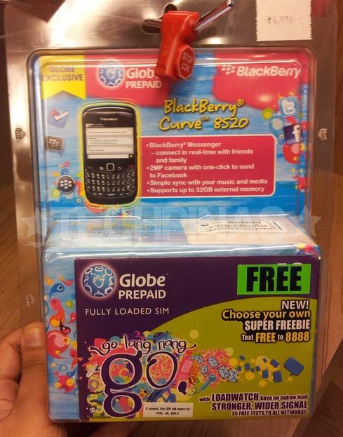 Globe BlackBerry Curve 8520 Blister Pack
