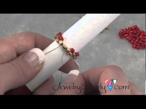 How to stitch  Even Count Tubular Peyote  ~ Seed Bead Tutorials