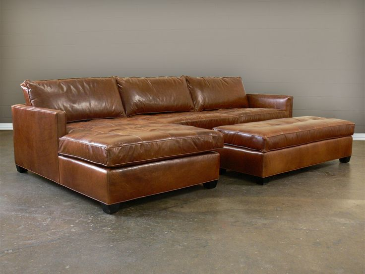 nice brown leather arizona leather sectional sofa with chaise top grain aniline