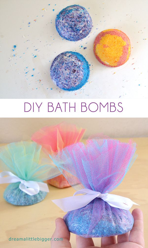 Homemade bath bombs are super easy to make, smell fantastic and leave