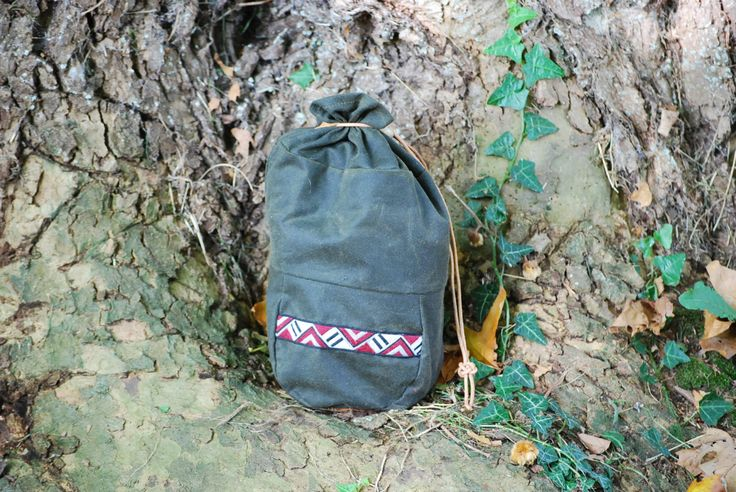 Bushcraft Sami Style Coffee Bag Waxed Cotton by BushcraftMercantile on Etsy