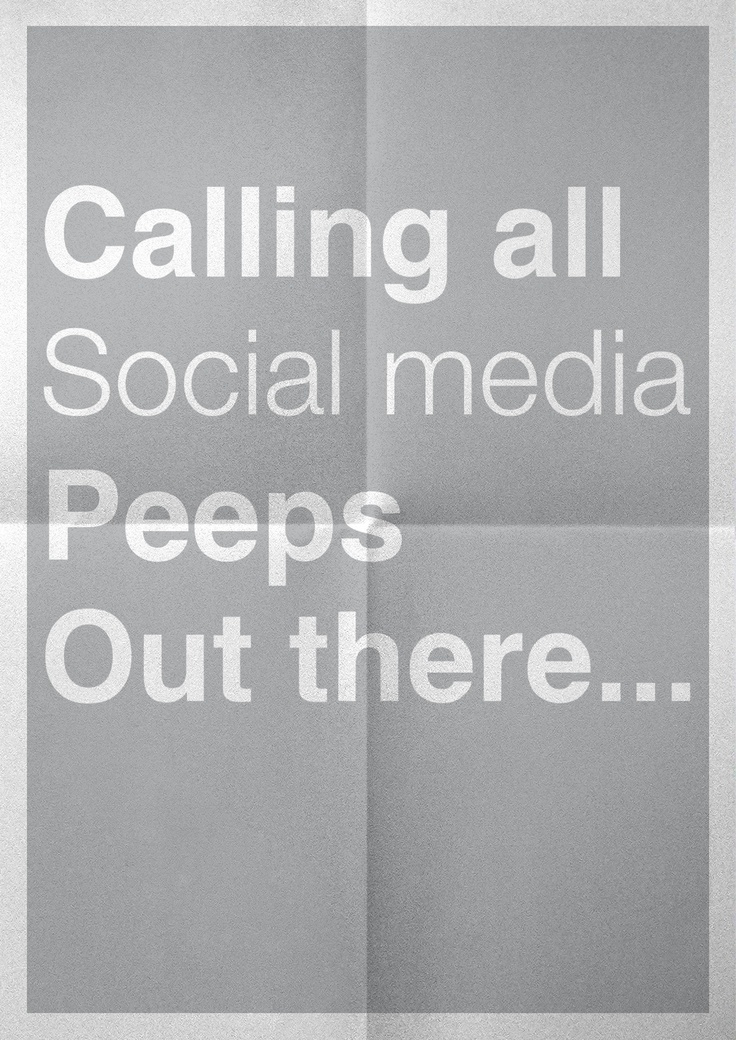 Calling all social media peeps out there...