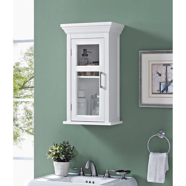WYNDENHALL Hayes Single Door Bathroom Wall Cabinet in ...