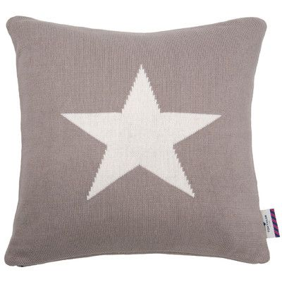 Knitted Star Cushion Cover: 2 colour options