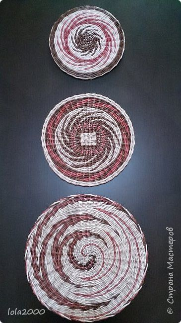 Картина панно рисунок Плетение панно Трубочки бумажные фото 1