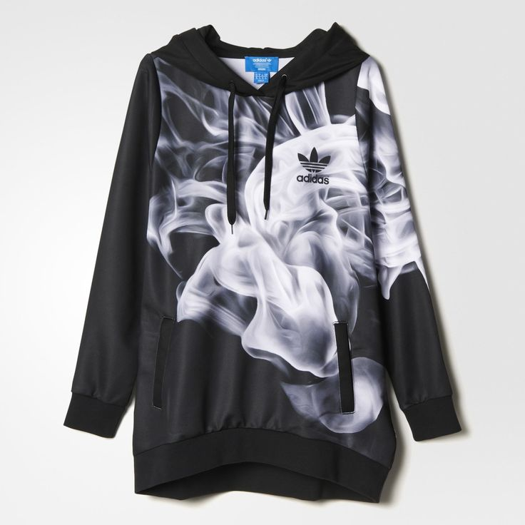 adidas White Smoke Hoodie - Black   adidas US
