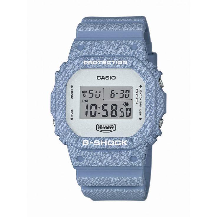 Casio G-Shock Style Series DW-5600DC -2ER Zegarek Casio G-Shock DW-5600DC -2ER to linia kultowego modelu 5600 w wykończeniu Denim Color. Koperta o średnicy 42,8 mm i grubości 13,4 mm oraz pasek zostały wykonane z tworzywa, które jest elastyczne i wytrzymałe. Wykończenie w kolorze błękitu i szarości swoim wzorem przypomina tkaninę jeansową.  #timetrend #zegarek #zegarki #casio