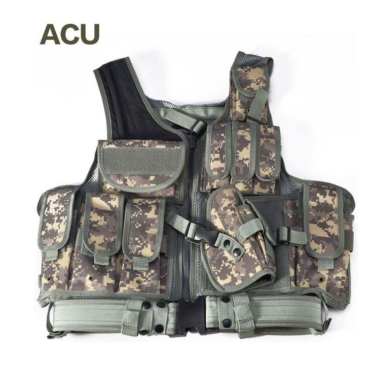 Tactical Vest Outdoor Camouflage Military Body Armour Sports Wear Hunting Vest Army Swat Vest Black