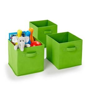 Roomates 3 Pack Collapsible Storage Cubes - Lime