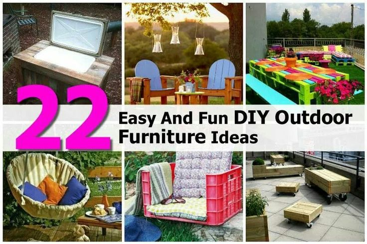 22 easy and fun outdoor furniture ideas great outdoors for Pinterest diy outdoor furniture
