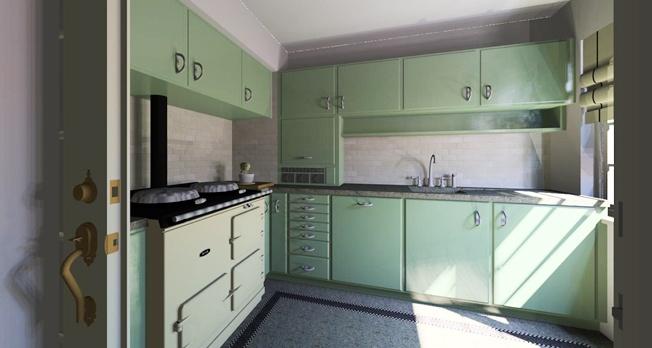 de ultieme keuken...... jaren 30-stijl!!