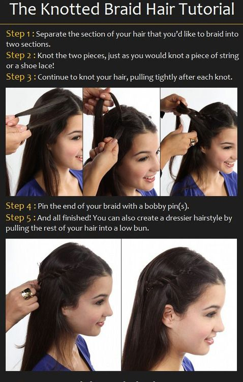 The Knotted Braid Hair Tutorial