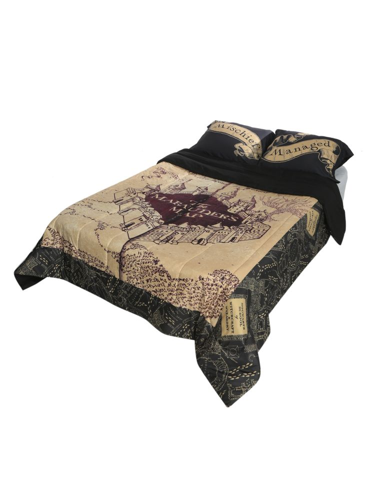 Harry Potter The Marauder's Map Full/Queen Comforter | Hot Topic| need this for my room!!