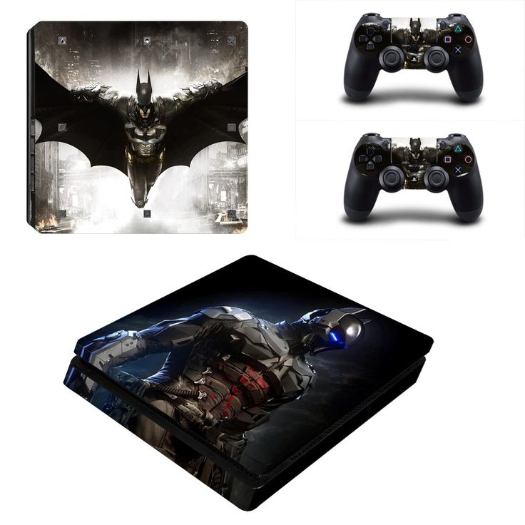 Batman ps4 slim edition skin decal for console and 2 controllers