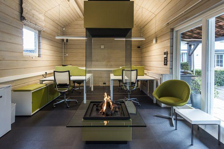 www.havic-kantoormeubelen.nl - design kantoormeubelen - projectinrichtig - groen - kantoor aan huis - modern - warm