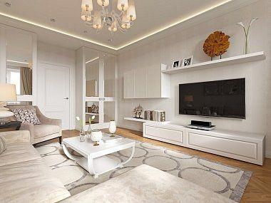 Дизайн интерьера двухкомнатной квартиры в стиле Неоклассика в ЖК «Академ-Парк»…