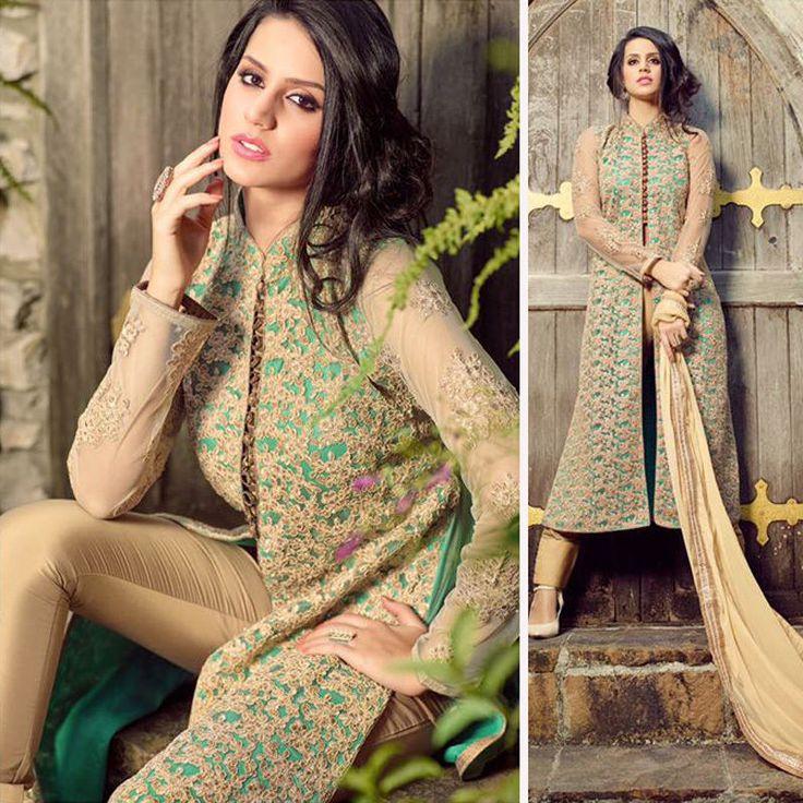 indian pakistani bollywood designer anarkali salwar kameez stylish indo western #Handmade #salwarkameez #Festive