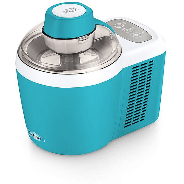 Improvements Thermo-Electric Ice Cream Maker - Turquoise (475 AED) ❤ liked on Polyvore featuring home, kitchen & dining, baking, cooking, food prep, kitchen accessory and turquoise
