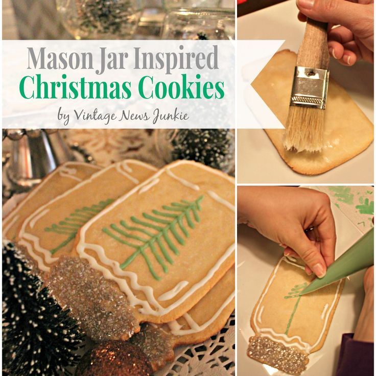 Mason Jar Christmas Cookie Ideas #ChristmasCookies