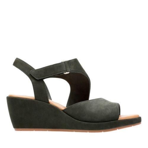 12943011d509 Un Plaza Sling Black Nubuck - Women s Wide Width Shoes - Clarks® Shoes  Official Site