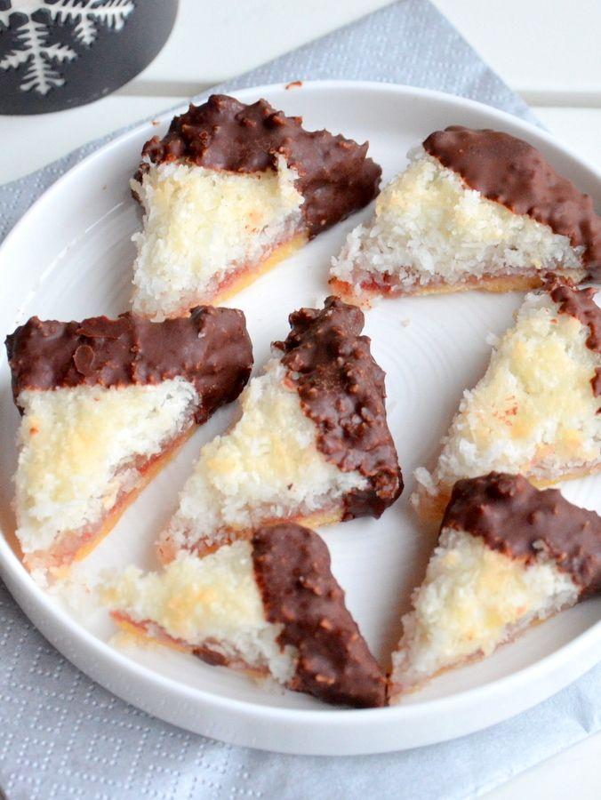 Kokosecken mit Schokoladenglasur – ich muss backen   – Kuchen aller Art