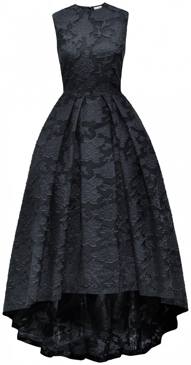 black lace with train... Beautiful! Too bad I'm not royalty and have someplace to wear this!