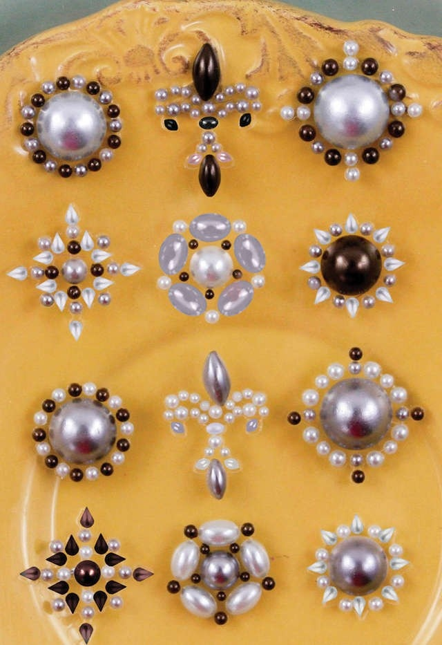 Say It In Pearls Flower Centers 12/Pkg SIIPC-815 - Embellishments