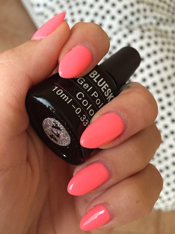 Bluesky nail gel polish uv/led fluo color A74