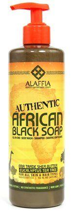 Authentic African Black Soap 16 oz - Eucalyptus Tea Tree